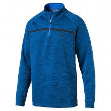 Puma PWRWARM Bonded 1/4 Zip Popover - Electric Blue Lemonade
