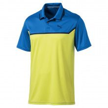 Puma Bonded Tech Golf Polo - Electric Blue Lemonade Lemon Tonic