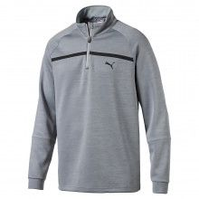 Puma PWRWARM Bonded 1/4 Zip Popover - Quarry Heather