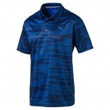 Puma PWRCOOL Blue Golf Polo - Peacoat