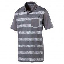 Puma Camo Stripe Golf Polo - Quiet Shade