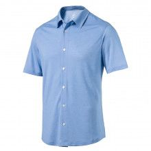 Puma Knit Golf Shirt - Electric Blue Lemonade