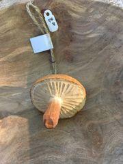 Milky Mushroom Wood Ornament