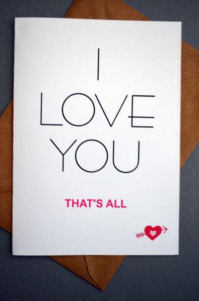 I LOVE YOU - THAT'S ALL