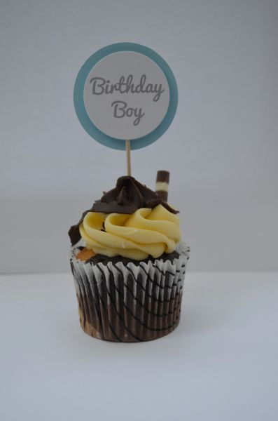 BIRTHDAY BOY CUPCAKE TOPPERS
