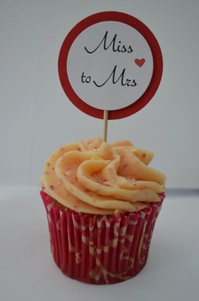 MISS TO MRS CUPCAKE TOPPERS (RED)
