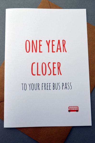ONE YEAR CLOSER TO YOUR FREE BUS PASS