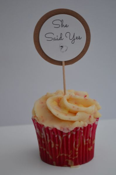 SHE SAID YES CUPCAKE TOPPERS