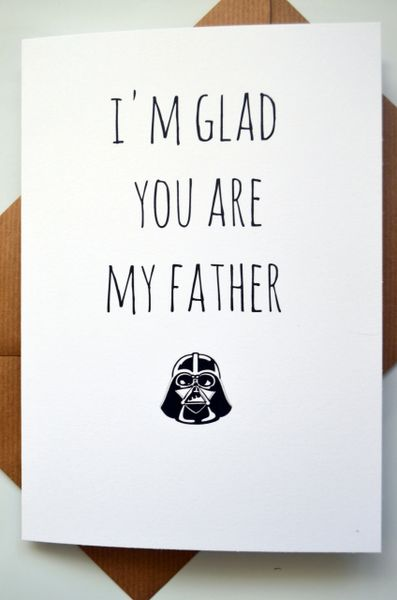 I'M GLAD YOU ARE MY FATHER