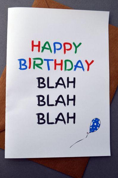 BIRTHDAY BLAH, BLAH, BLAH