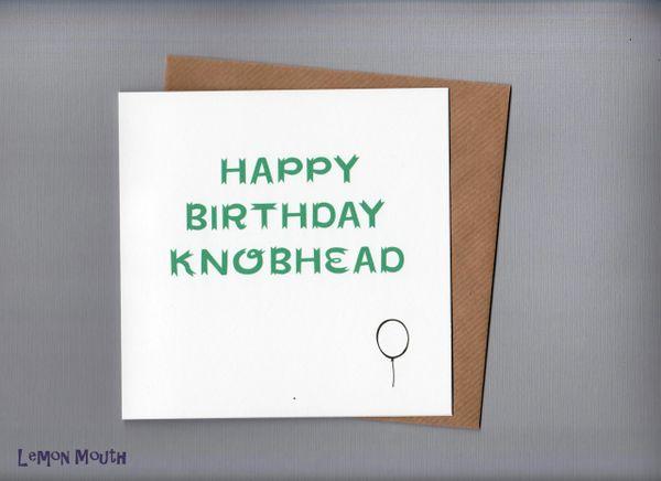 HAPPY BIRTHDAY KNOB HEAD