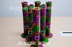 14 inch SILICONE BONG WITH BOWL&DOWNSTEM