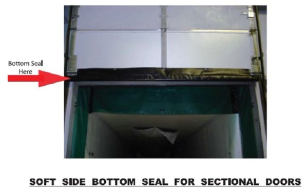 Sectional Door Soft Bottom Seal - Maintains a Positive Seal