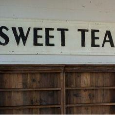 Vintage Sweet Tea Sign