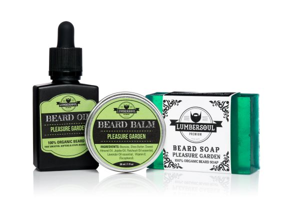 PLEASURE GARDEN Set | Beard Oil + Beard Balm + Beard Soap