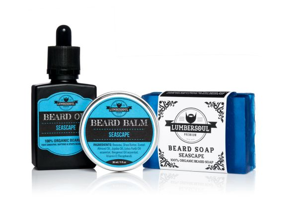 SEASCAPE Set | Beard Oil + Beard Balm + Beard Soap
