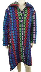Italian Multicolour Long Wool Coat