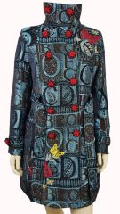 French Stylish Coat on Alphabets print
