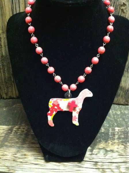 Custom Pattern Show Lamb Necklace Showring Silhouettes