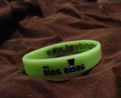 heyBingBong Glow in the Dark Silicone Bracelet