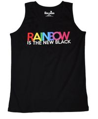 Rainbow is the New Black Tank Top
