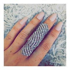 Amla Full Finger Statement Ring