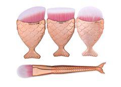 4pc Mini Mermaid Inspired Make Up Brush Set