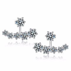 Zircon Ear Jacket Studs