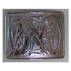 Chrome Plated Zoomorphic Pattern Buckle