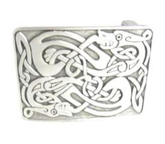 Pewter Zoomorphic Buckle - Matte