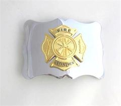 Fire Department Buckle - Gold