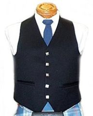 Men's 5 Button Vest - Black