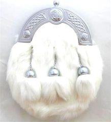 White Rabbit Dress Sporran with Straight-Chain Tassels