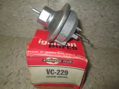 VC-229 STANDARD FORD LINCOLN MUSTANG LTD 77-80- DISTRIBUTOR VACUUM ADVANCE NOS