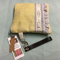 Handmade Cotton Purse - Soft Primrose Yellow