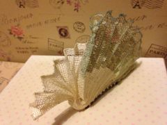 Fan pleated fascinator hair comb