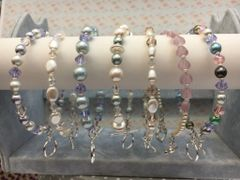 Beaded Bangles - Glass Crystals, Pearls & Seed Beads