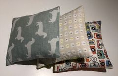 Handmade cuddle cushion - cotton prints