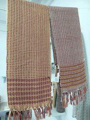 Vintage wash handwoven scarf made with pure Cotton warp & British Wool