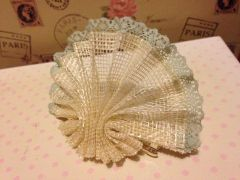 Lace edged fan hair clip