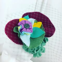 Large Felted Flower Brooch/Hair clip