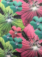 Printed Pure Cotton Scarves - made to order in a colourful botanical print