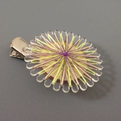 Thread wrapped brooch clip