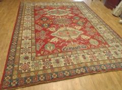 100% vegetable dye Afghan Kazakh rug size 8'x11'