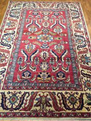 Hand woven decorative Afghan kazakh rug size 5'x8'