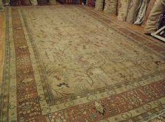 #L00504 ANTIQUE PERSIAN TABRIZ SIZE 12'X20' CIRCA 1900 ALLOVER SOFT COLORS TRADITIONAL