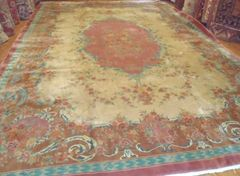 #L00512 LARGE ANTIQUE HANDWOVEN CHINESE RUG SIZE 12'X17'