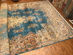 Authentic 100% pure fine wool Handwoven Persian Keraman rug size 11'x21'