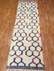 "#L00525 HANDWOVEN DECORATIVE FLAT WEAVE RUNNER SIZE 2'6""X8'"