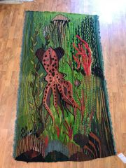 Octopus Tapestry handwoven wall hanging size 3'x6'